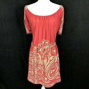 BCBGMaxazria Off Shoulder Mini Dress Open Back M
